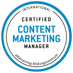 Certified Content Marketing Manager