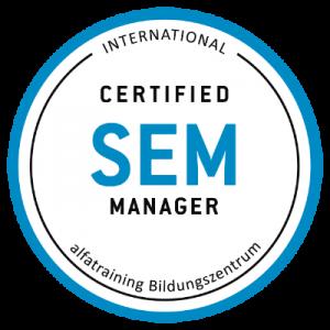 Zertifikat SEM Manager